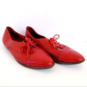 Shoes - Vintage Red Leather Oxford Shoe